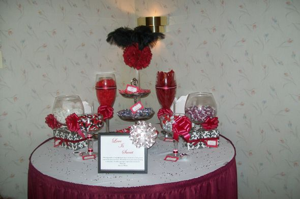 Red White Candy Buffet wedding red white reception Wedding 021 wedding