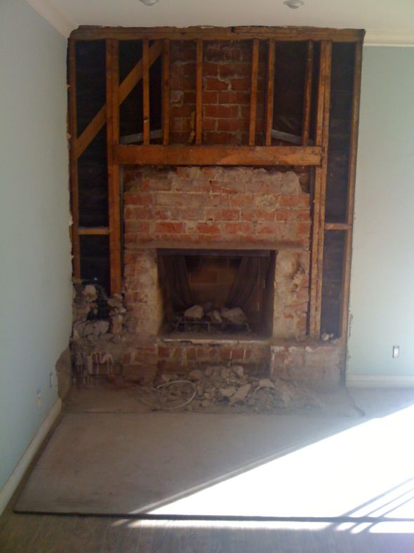 Fireplace Renovation Update Weddingbee