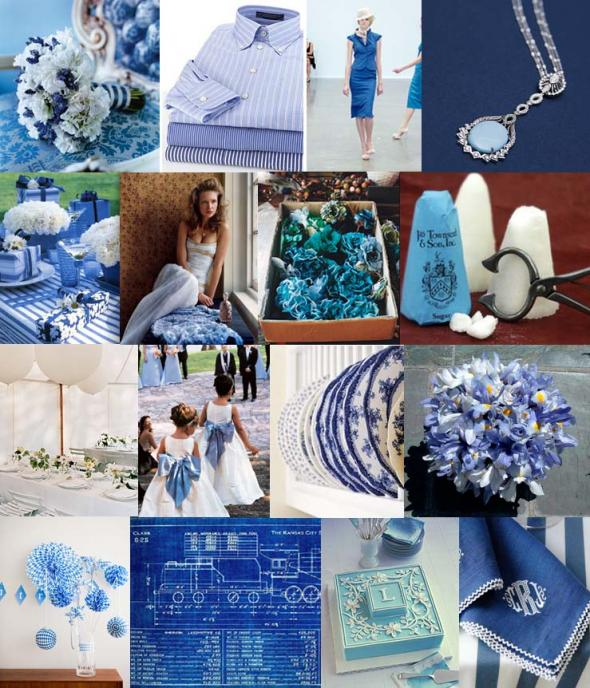 Blue with Platinum Silver Accents : wedding blue grey inspirations boards silver Blue