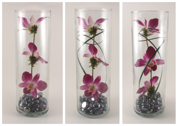 Ruselle s diy preserved orchid centerpieces wedding