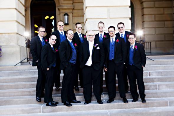 Calvin Klein tuxedos via Men 39s Werhouse gifted ties and socks wedding