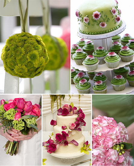 Green And Pink Wedding Colors