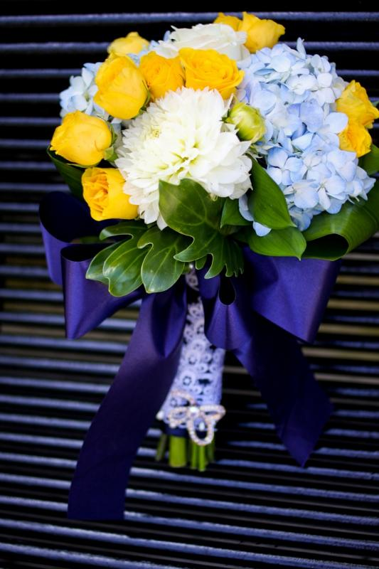 Bridgeeys blog the wedding flowers are red and yellow orchids the colors navy blue and yellow and super low budget the day of wedding mightylinksfo