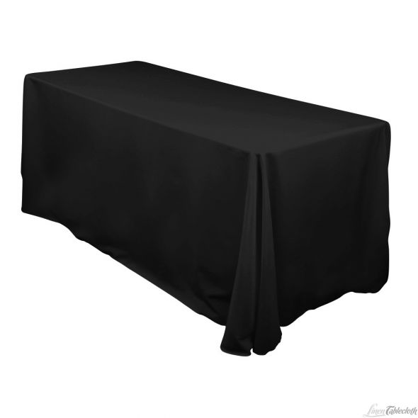Laughing Black TableCloths wedding black table cloth cheap linen for sale