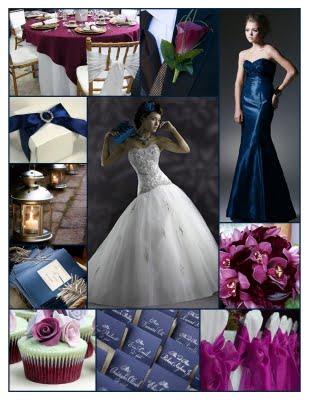 Midnight blue silver burgundy wedding Dark Blue Burgundy Purple