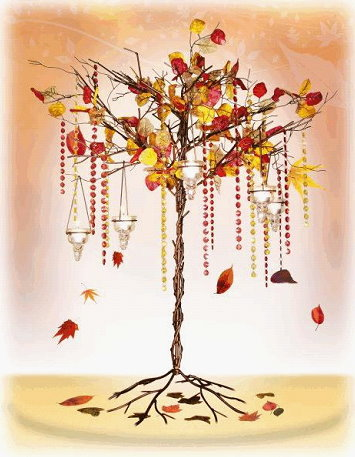 Fall Tree Leaves theme wedding autumn fall place cards favors Autum