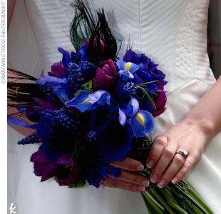 Dark Blue Wedding Flowers