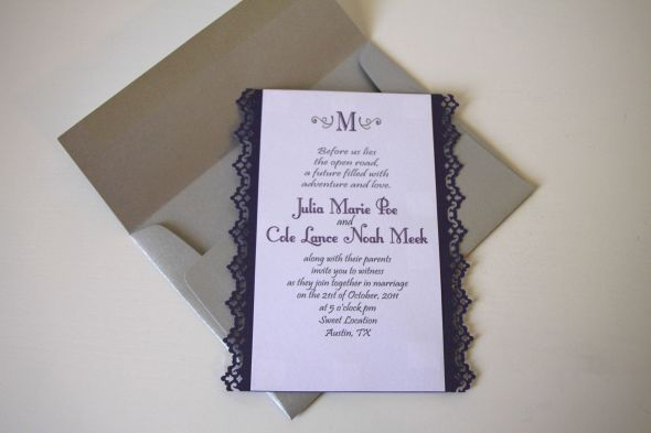 Diamante Handmade Wedding Invitation Samples Cards Pinterest