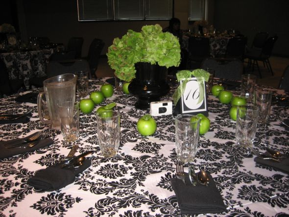 Looking for Lime Apple Green Decor Ideas wedding lime green black white