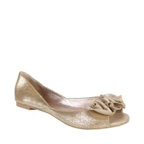 Cute Wedding Flats Fle Champagne Suede