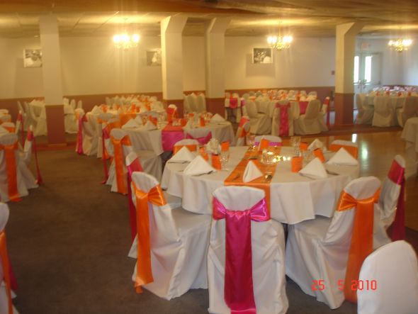 fuchsia and orange satin sashes for sale wedding fuchsia and orange satin