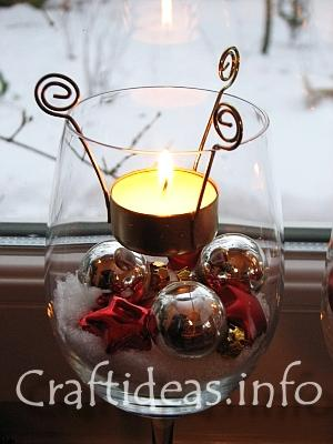 Safe to Burn Tealight in Wine Glass wedding decor centerpieces Christmas