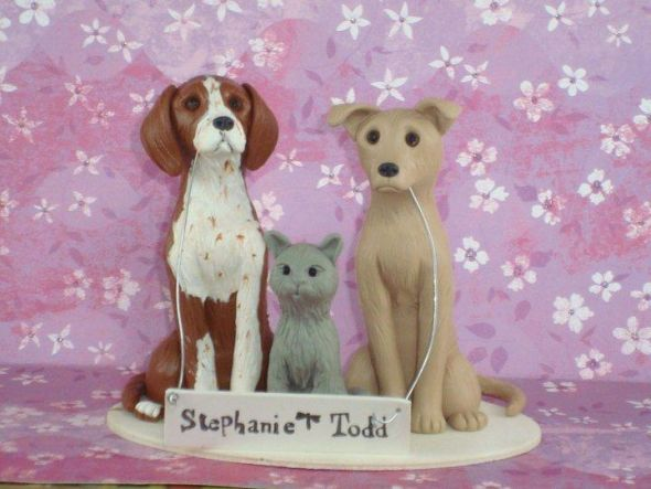 wedding cake topper Untitled And here is a photo of the dogs