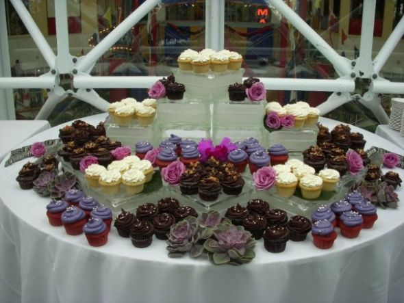 Cake table of awesomeness wedding cake table decor cake Blaire Cupcakes