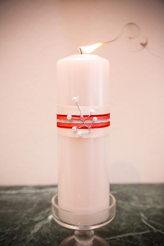 Unity Candle wedding unity candle diy pearl puma red ivory ceremony Unity