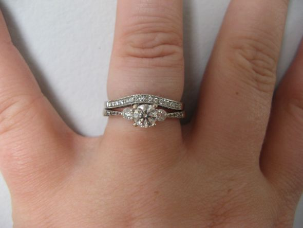 here 39 s my current engagement ring and wedding band sometimes i wear