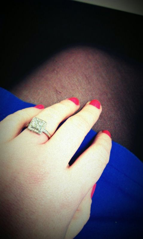 But the wedding ring matches