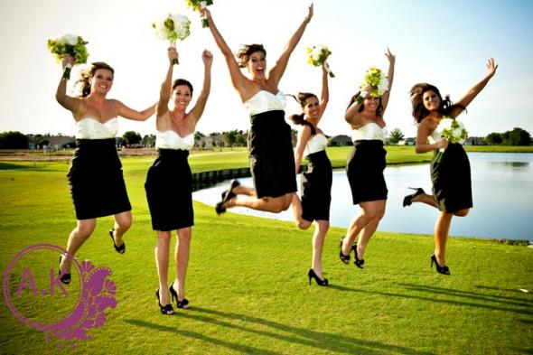 WEDDING PARTY Bridesmaids Our Black and Ivory Bridesmaid Dresses