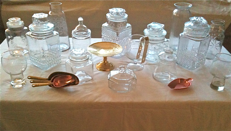 candy buffet table. Candy buffet + scoops amp; tongs
