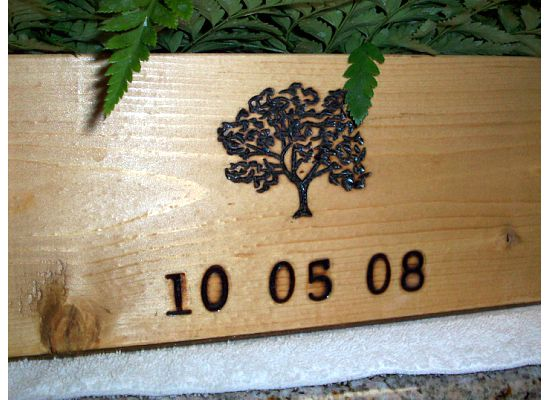 Mrs Vino Wine Box Centerpiece wedding centerpieces winery wood diy