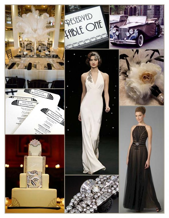 Old hollywood ideas weddingbee for Art deco wedding decoration ideas
