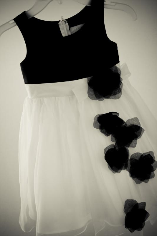 White And Black Flower Girl Dresses