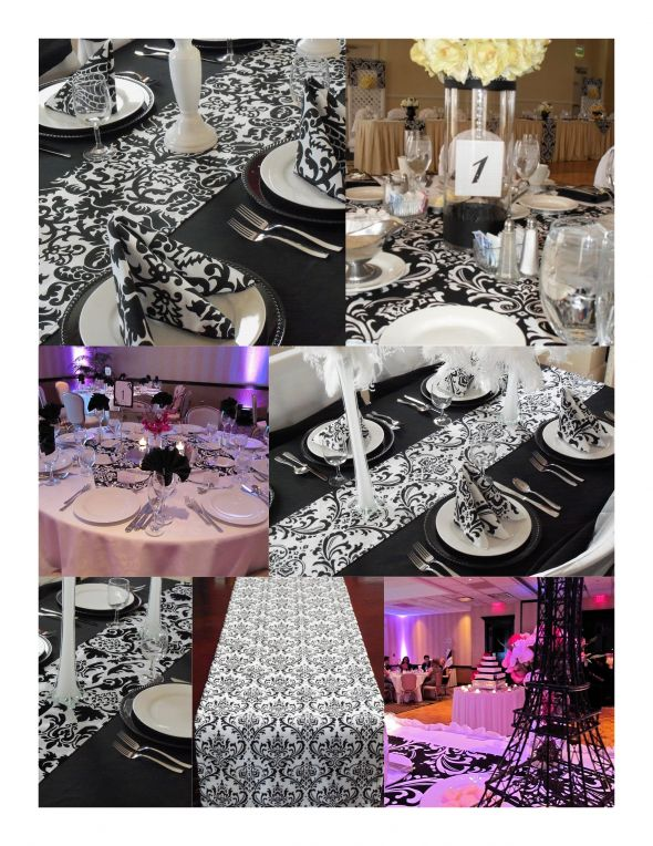 Black White Berry Pink Wedding Items wedding things needed black pink