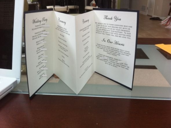 BEES I need some advice on DIY wedding programs