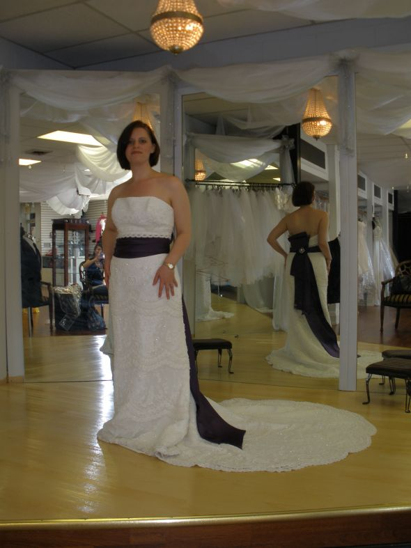 obi sash wedding dress