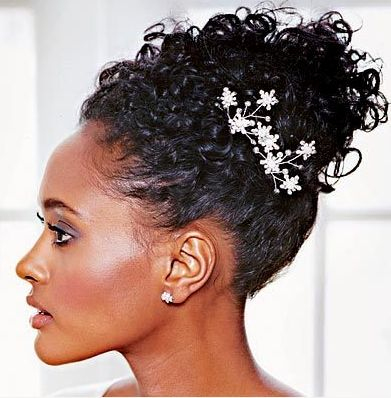 crazy curls wedding hair curly hair hair inspiration Black Women Wedding