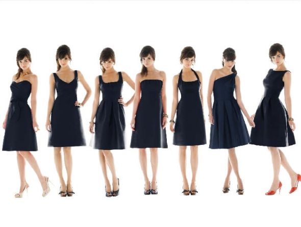 Hemlines necklines and fabrics oh my weddingbee for Different necklines for wedding dresses