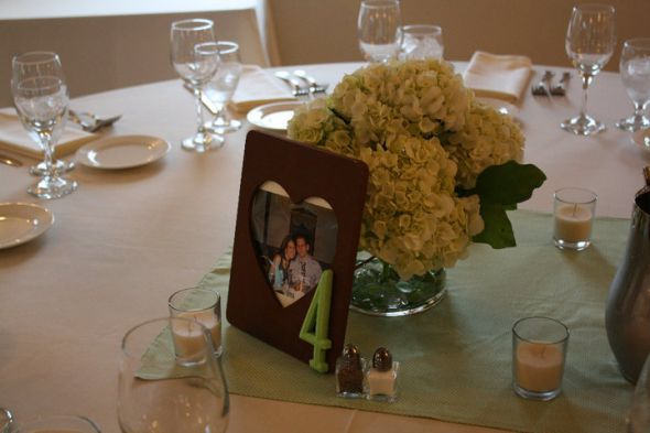 brown table number picture frames wedding table numbers centerpiece