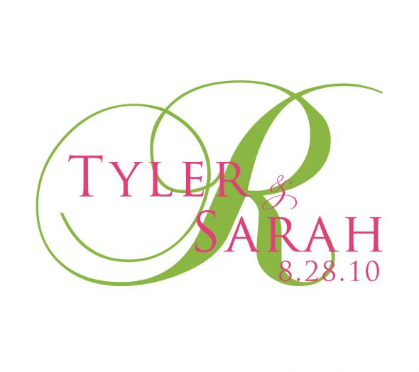Any ideas What font are these wedding fonts monogram Sarah Tyler 2