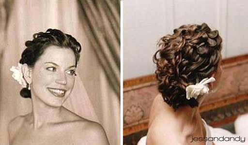 I need hair advice inspiration curly loose updo wedding Bride Hair 4