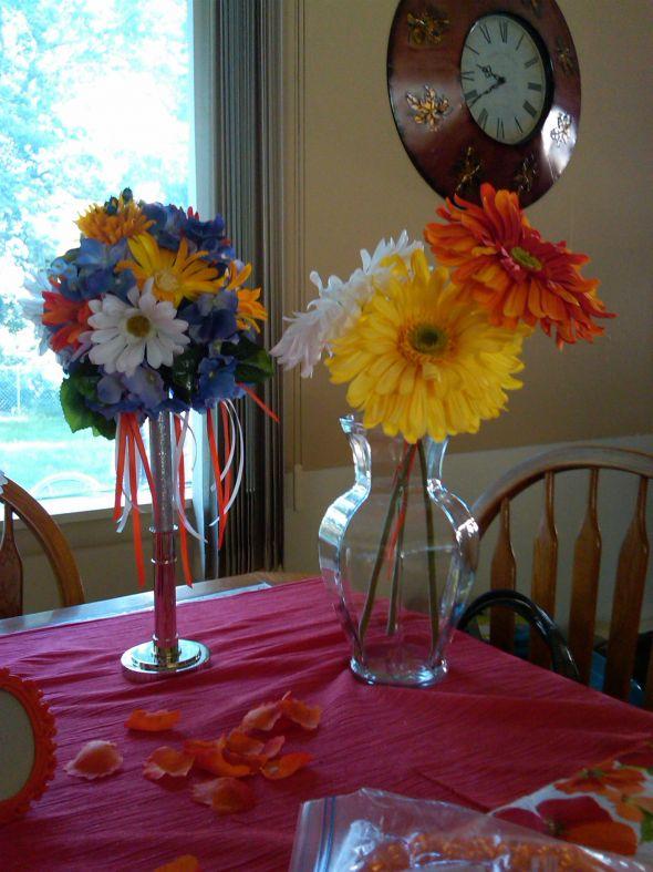 centerpieces gerbera daisy