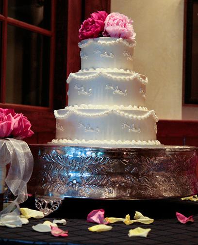 All White Buttercream Wedding Cake w