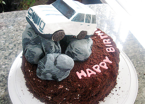 Happy birthday to DESERTDEVIL N PINKPANTHER - jeep cake