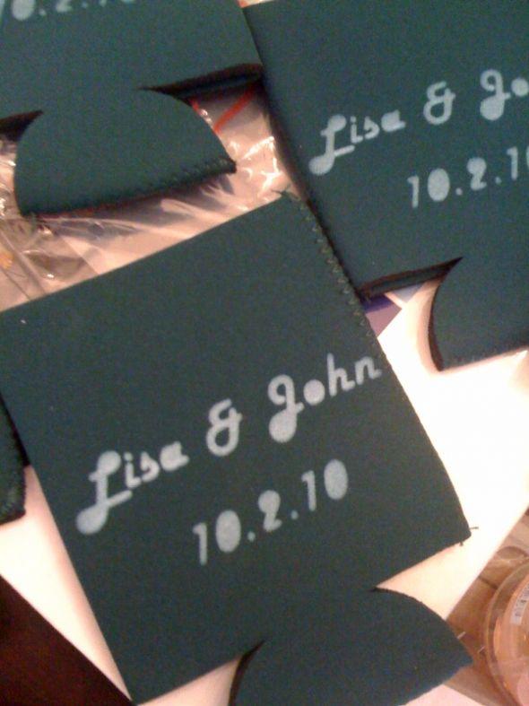 YUDU screenprinted koozies for OOT bags wedding diy koozies Koozies