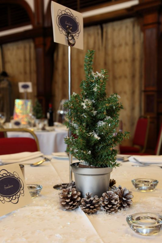 Our Christmas Tree Centrepieces wedding snowflake christmas tree christmas