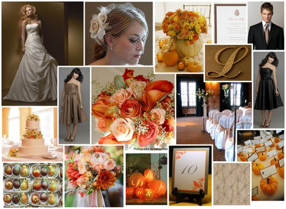 Peach is our primary wedding color I wanted a romantic muted fall palette