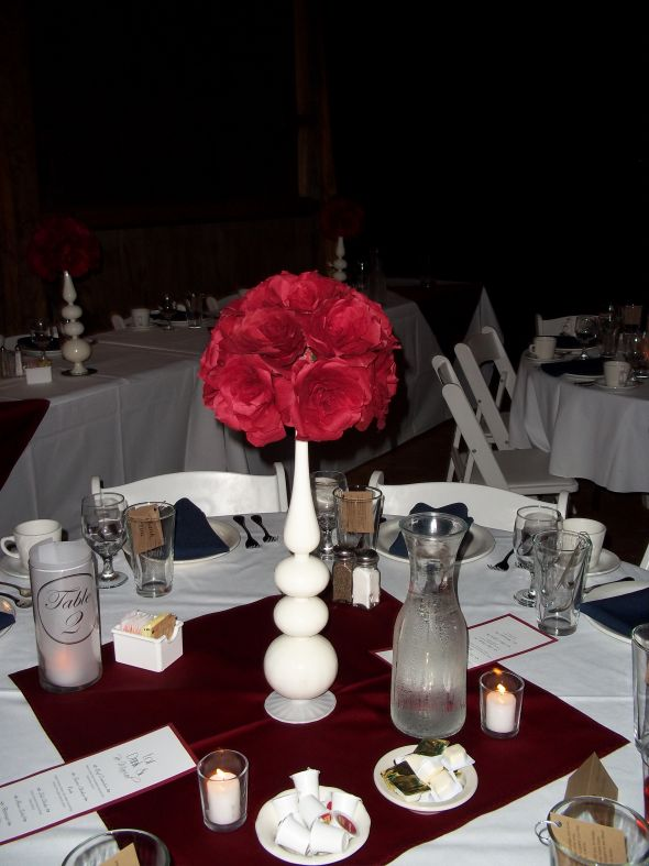 Coffee Filter Roses Centerpiece Success wedding Table 1 year ago
