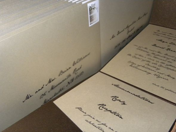How did you print your wedding invitation ENVELOPES