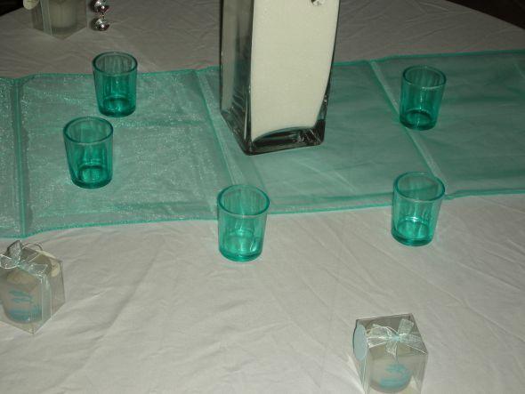 Turquoise Aqua Organza Beach Wedding Table Runners 9 wedding turquoise