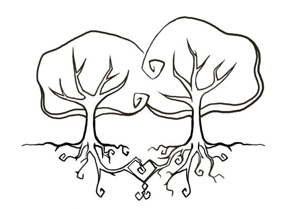 Wedding Logo wedding Trees I thought it was something I could put on our
