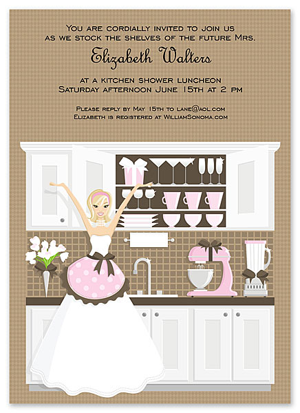 my bridal shower invitation and recipe card