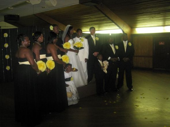 Black dress wedding party