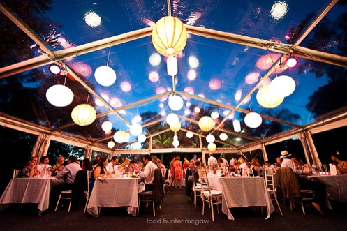 Night reception outdoors in May need lighting ideas wedding candles
