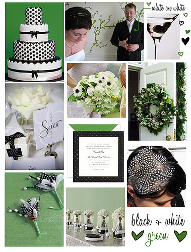 Flowers for a Black and White Formal Wedding