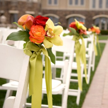 ideas for how to decorate a banquet chair wedding chair decor Flowers
