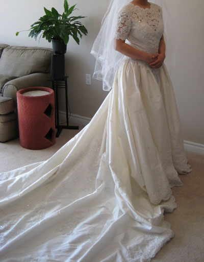 Cheap Wedding Ceremony Locations on Sleeves Wedding Dress Cheap White Ivory Ceremony Dress Picture 217